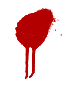 Red Paint Drop Vector