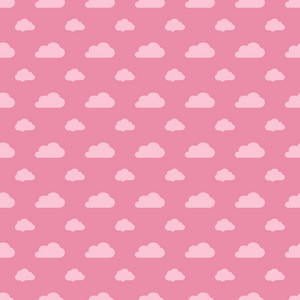 Red Pastel Cloud Pattern