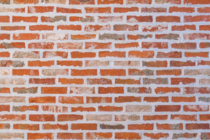 Red pattern brick wall texture and background.