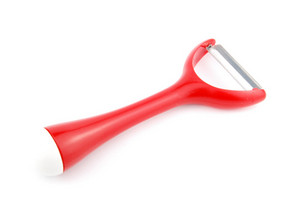 Red Peeler On White