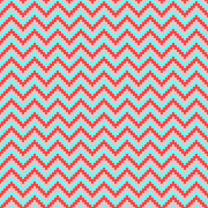 Red, Pink, And Turquoise Chevron Pattern