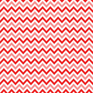 Red, Pink, And White Chevron Pattern On Mickey Paper