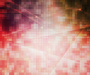 Red Pixels Abstract Background