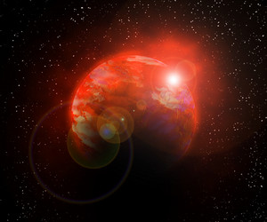 Red Planet Universe Background
