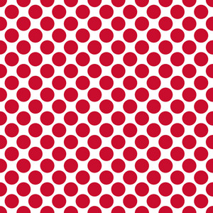 Red Polka Dots Pattern On A White Background