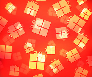 Red Presents Abstract Background