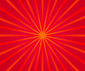 Red Retro Rays Backdrop