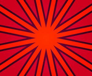 Red Retro Rays Texture