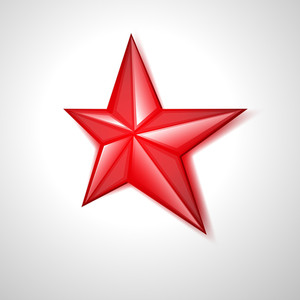 Red Retro Star