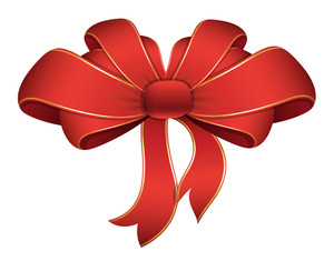 Red Ribbon - Christmas Vector Illustration
