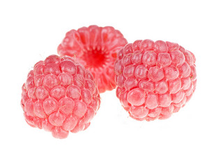 Red Ripe Raspberries Macro