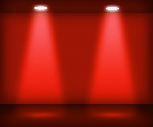 Red Room With Two Spotlights
