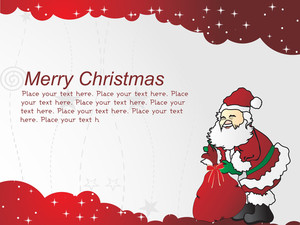 Red Santa Claus With Gift