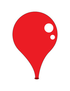 Red Shiny Balloon Design