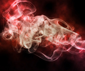 Red Smoke Abstract Background