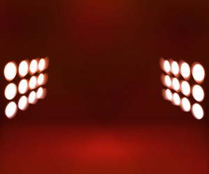 Red Spotlights Room Background