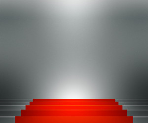 Red Stairs Spotlight Backdrop