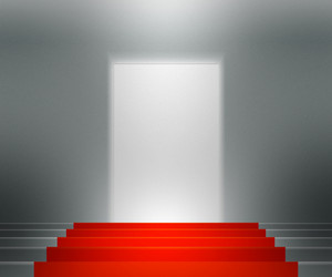 Red Stairs Spotlight Background