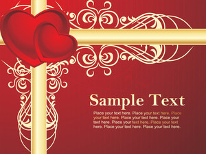 Red Swirl Design Background Vector