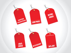 Red Tags Winter Discount Sale