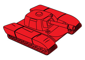 Red Tank Vector