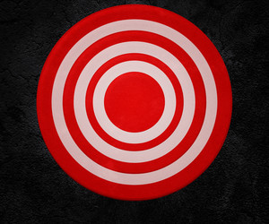 Red Targeton The Wall Background