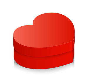 Red Valentine Gift Box