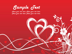 Red Valentine Love Card