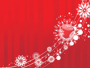 Red Valentines Winter Vector Background