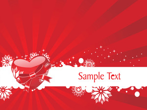 Red Vector Heart Knoted With Ribbon Illustration
