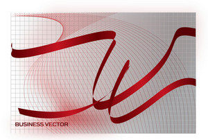 Red Vector Ribbons