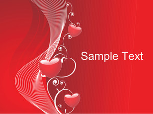 Red Vector Valentine Floral Design Heart