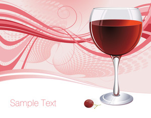 Red Vine. Vector Background.