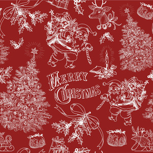 Red Vintage Christmas Pattern