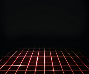 Red Virtual Laser Floor Background
