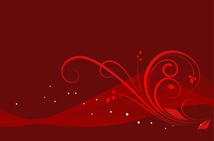 Red Waves - Vector Background
