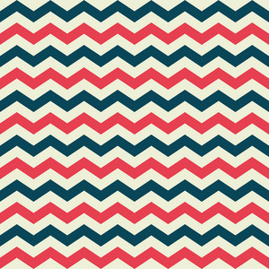 Red, White, And Blue Retro Nautical Chevron Pattern