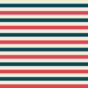 Red, White, And Blue Retro Nautical Stripes Pattern