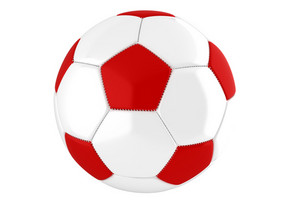 Red-white Soccer Ball