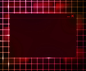 Red Window Technology Concept Background