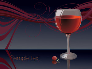 Red Wine Abstract. Vector.