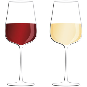 Red Wine White Wine Glasses