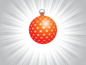 Red X'mas-balls With Shiny Star Artwork