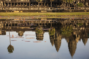 Reflect Angkor wat on water, Cambodia, Siem Reap