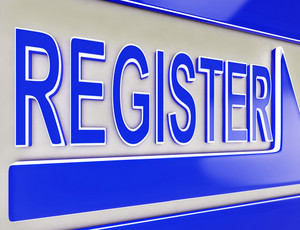 Register Sign Button Showing Website Members