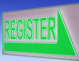 Register Sign Button Shows Website Registration