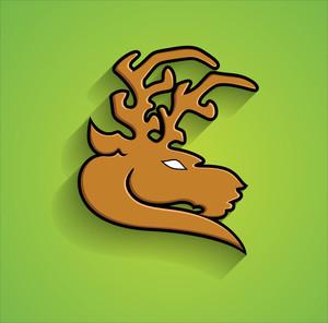 Reindeer Animal Face Shape