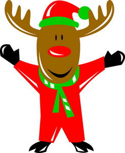 Reindeer Deer Retro
