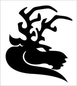 Reindeer Silhouette Tattoo