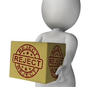Reject Stamp On Box Shows Rejection Or Denied Product